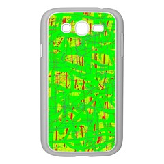 Neon green pattern Samsung Galaxy Grand DUOS I9082 Case (White)