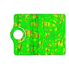 Neon green pattern Kindle Fire HD (2013) Flip 360 Case