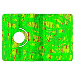 Neon green pattern Kindle Fire HDX Flip 360 Case