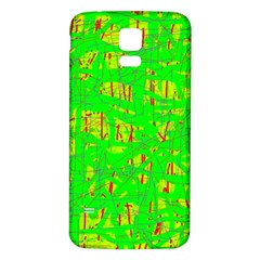 Neon green pattern Samsung Galaxy S5 Back Case (White)