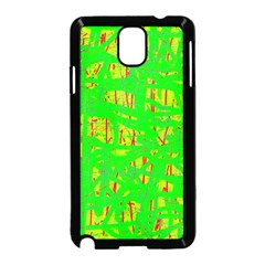 Neon green pattern Samsung Galaxy Note 3 Neo Hardshell Case (Black)