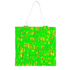 Neon green pattern Grocery Light Tote Bag