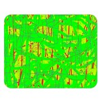 Neon green pattern Double Sided Flano Blanket (Large)   Blanket Back
