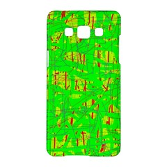 Neon green pattern Samsung Galaxy A5 Hardshell Case
