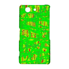 Neon green pattern Sony Xperia Z3 Compact