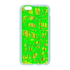 Neon green pattern Apple Seamless iPhone 6/6S Case (Color)