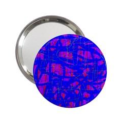 Blue pattern 2.25  Handbag Mirrors