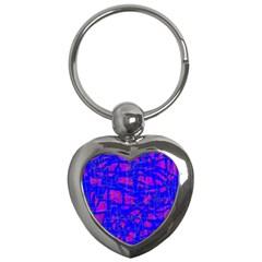 Blue pattern Key Chains (Heart)