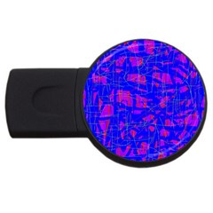 Blue pattern USB Flash Drive Round (1 GB)