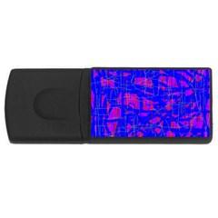Blue pattern USB Flash Drive Rectangular (2 GB)