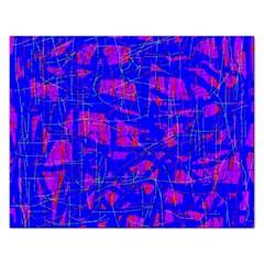 Blue pattern Rectangular Jigsaw Puzzl
