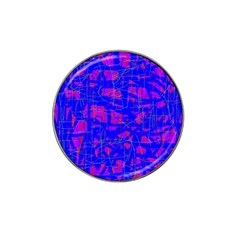 Blue pattern Hat Clip Ball Marker