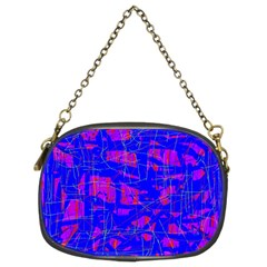 Blue pattern Chain Purses (Two Sides)