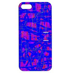 Blue pattern Apple iPhone 5 Hardshell Case with Stand