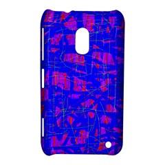 Blue pattern Nokia Lumia 620