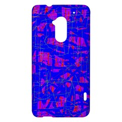 Blue pattern HTC One Max (T6) Hardshell Case