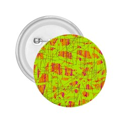 yellow and orange pattern 2.25  Buttons