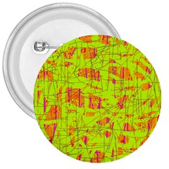 yellow and orange pattern 3  Buttons