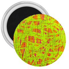 yellow and orange pattern 3  Magnets