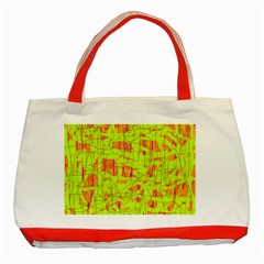yellow and orange pattern Classic Tote Bag (Red)