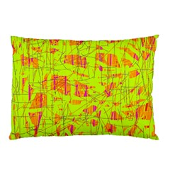 yellow and orange pattern Pillow Case