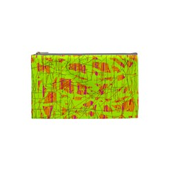 yellow and orange pattern Cosmetic Bag (Small)