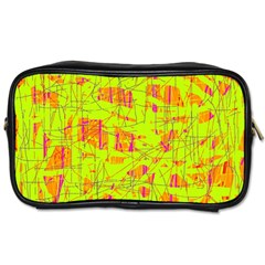 yellow and orange pattern Toiletries Bags