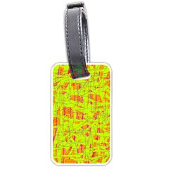 yellow and orange pattern Luggage Tags (Two Sides)