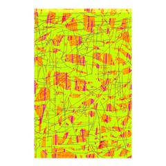 yellow and orange pattern Shower Curtain 48  x 72  (Small)