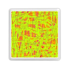 yellow and orange pattern Memory Card Reader (Square)