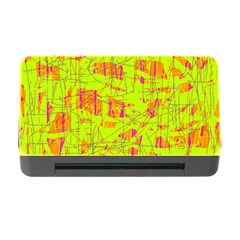 yellow and orange pattern Memory Card Reader with CF