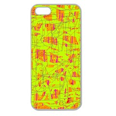 yellow and orange pattern Apple Seamless iPhone 5 Case (Clear)
