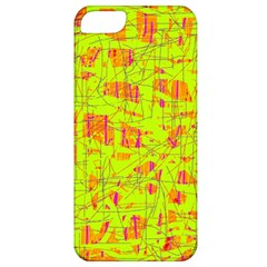 yellow and orange pattern Apple iPhone 5 Classic Hardshell Case