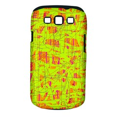 yellow and orange pattern Samsung Galaxy S III Classic Hardshell Case (PC+Silicone)