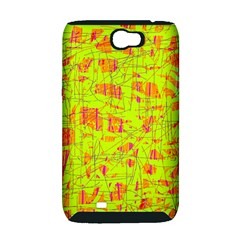 yellow and orange pattern Samsung Galaxy Note 2 Hardshell Case (PC+Silicone)