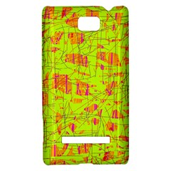 yellow and orange pattern HTC 8S Hardshell Case