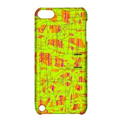 yellow and orange pattern Apple iPod Touch 5 Hardshell Case with Stand