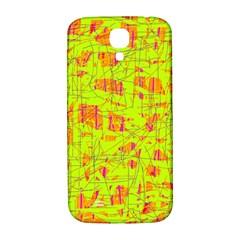 yellow and orange pattern Samsung Galaxy S4 I9500/I9505  Hardshell Back Case