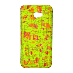 yellow and orange pattern HTC Butterfly S/HTC 9060 Hardshell Case