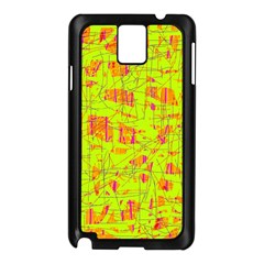 yellow and orange pattern Samsung Galaxy Note 3 N9005 Case (Black)