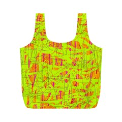 yellow and orange pattern Full Print Recycle Bags (M)