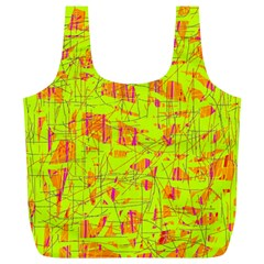 yellow and orange pattern Full Print Recycle Bags (L)
