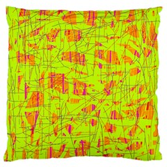 yellow and orange pattern Standard Flano Cushion Case (Two Sides)