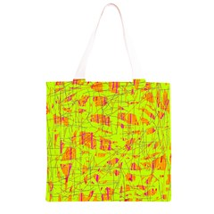 yellow and orange pattern Grocery Light Tote Bag