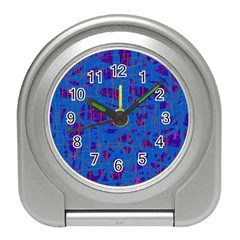 Deep blue pattern Travel Alarm Clocks