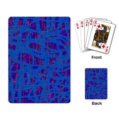 Deep blue pattern Playing Card