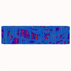 Deep blue pattern Large Bar Mats