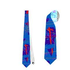Deep Blue Pattern Neckties (two Side)