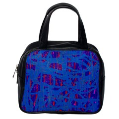 Deep blue pattern Classic Handbags (One Side)