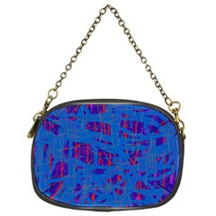 Deep blue pattern Chain Purses (Two Sides)